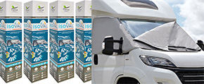 Isoval from Clairval: the multi-layer thermal insulation cover for campervans, cabovers, low-profile caravans and motorhomes.